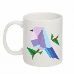 Mug 330ml Bird on a branch abstraction