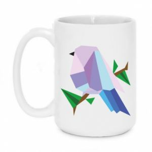 Mug 450ml Bird on a branch abstraction - PrintSalon