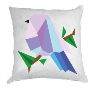 Pillow Bird on a branch abstraction