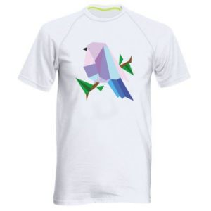 Men's sports t-shirt Bird on a branch abstraction - PrintSalon