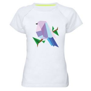 Women's sports t-shirt Bird on a branch abstraction - PrintSalon