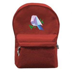 Backpack with front pocket Bird on a branch abstraction