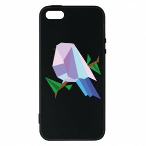 Phone case for iPhone 5/5S/SE Bird on a branch abstraction