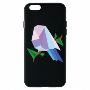 Phone case for iPhone 6/6S Bird on a branch abstraction
