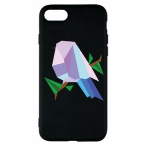 Phone case for iPhone 7 Bird on a branch abstraction - PrintSalon