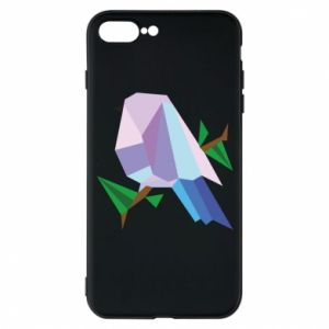 Phone case for iPhone 7 Plus Bird on a branch abstraction - PrintSalon
