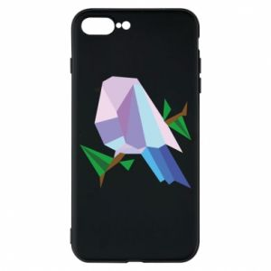 Phone case for iPhone 8 Plus Bird on a branch abstraction - PrintSalon