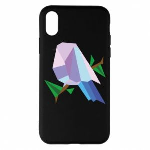 Phone case for iPhone X/Xs Bird on a branch abstraction