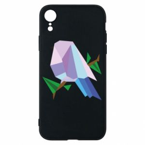 Phone case for iPhone XR Bird on a branch abstraction
