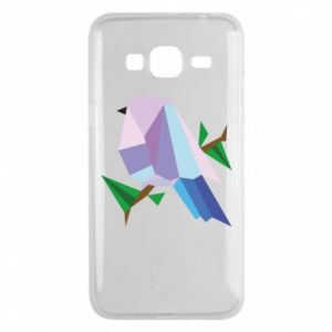 Phone case for Samsung J3 2016 Bird on a branch abstraction