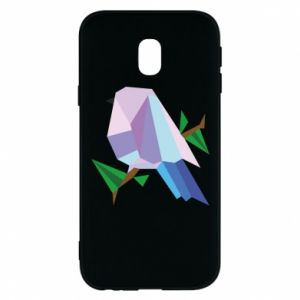 Phone case for Samsung J3 2017 Bird on a branch abstraction
