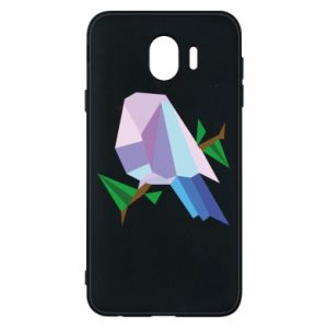 Phone case for Samsung J4 Bird on a branch abstraction