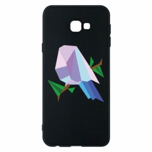 Phone case for Samsung J4 Plus 2018 Bird on a branch abstraction - PrintSalon