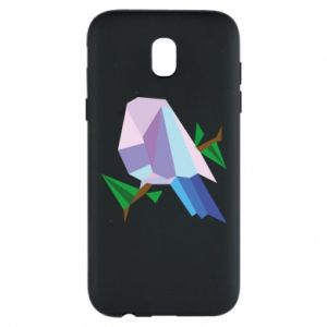 Phone case for Samsung J5 2017 Bird on a branch abstraction