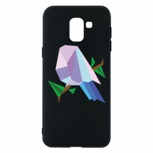 Phone case for Samsung J6 Bird on a branch abstraction
