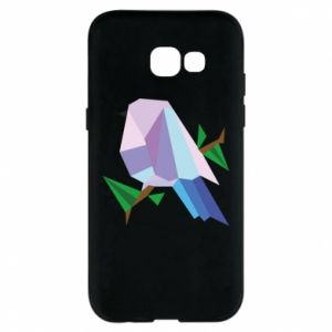 Phone case for Samsung A5 2017 Bird on a branch abstraction
