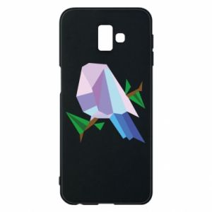 Phone case for Samsung J6 Plus 2018 Bird on a branch abstraction