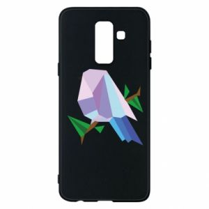 Phone case for Samsung A6+ 2018 Bird on a branch abstraction - PrintSalon