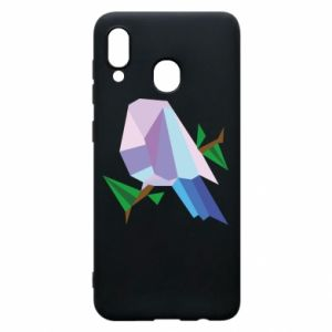 Phone case for Samsung A20 Bird on a branch abstraction