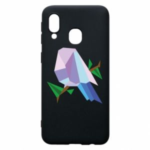 Phone case for Samsung A40 Bird on a branch abstraction - PrintSalon