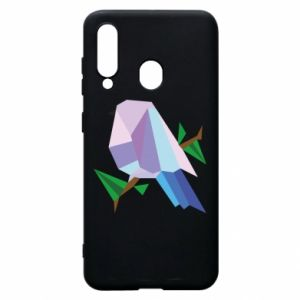 Phone case for Samsung A60 Bird on a branch abstraction - PrintSalon
