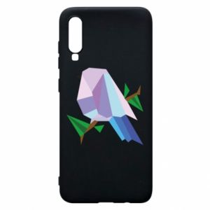 Phone case for Samsung A70 Bird on a branch abstraction - PrintSalon