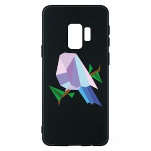 Phone case for Samsung S9 Bird on a branch abstraction - PrintSalon