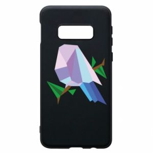 Phone case for Samsung S10e Bird on a branch abstraction - PrintSalon
