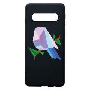 Phone case for Samsung S10 Bird on a branch abstraction - PrintSalon