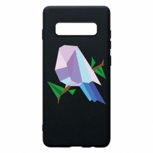 Phone case for Samsung S10+ Bird on a branch abstraction - PrintSalon