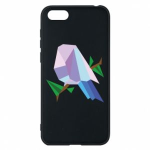 Phone case for Huawei Y5 2018 Bird on a branch abstraction