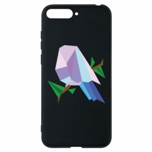Phone case for Huawei Y6 2018 Bird on a branch abstraction