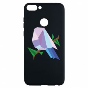 Phone case for Huawei P Smart Bird on a branch abstraction - PrintSalon