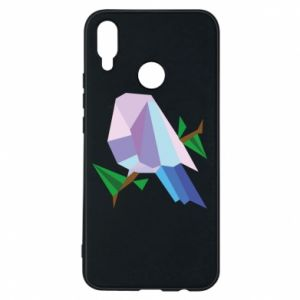 Phone case for Huawei P Smart Plus Bird on a branch abstraction - PrintSalon