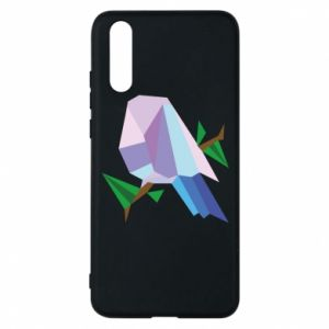 Phone case for Huawei P20 Bird on a branch abstraction - PrintSalon