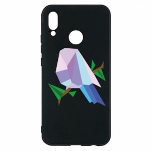 Phone case for Huawei P20 Lite Bird on a branch abstraction - PrintSalon