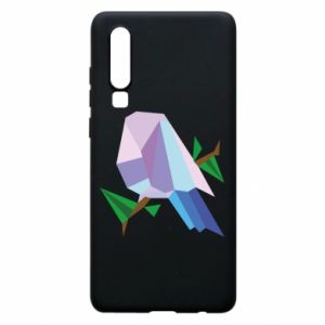 Phone case for Huawei P30 Bird on a branch abstraction - PrintSalon