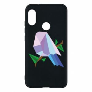 Phone case for Mi A2 Lite Bird on a branch abstraction - PrintSalon