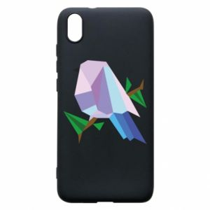 Phone case for Xiaomi Redmi 7A Bird on a branch abstraction - PrintSalon