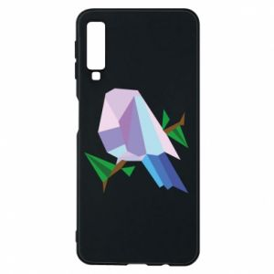 Phone case for Samsung A7 2018 Bird on a branch abstraction - PrintSalon