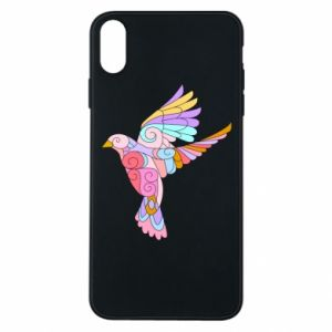 Phone case for iPhone Xs Max Bird with curls - PrintSalon
