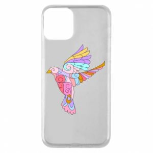Phone case for iPhone 11 Bird with curls - PrintSalon