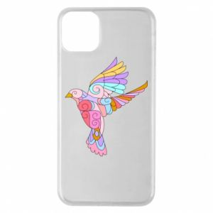 Phone case for iPhone 11 Pro Max Bird with curls - PrintSalon