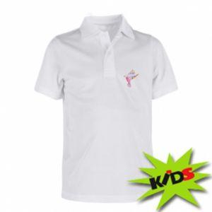 Children's Polo shirts Bird with curls - PrintSalon
