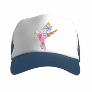 Trucker hat Bird with curls - PrintSalon