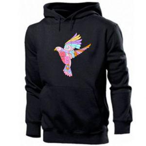 Men's hoodie Bird with curls - PrintSalon