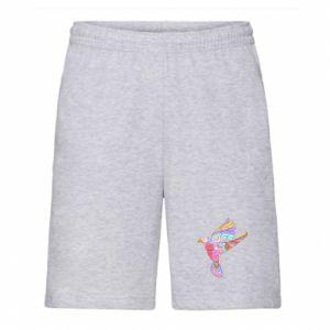 Men's shorts Bird with curls - PrintSalon