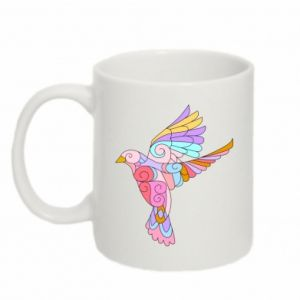 Mug 330ml Bird with curls - PrintSalon