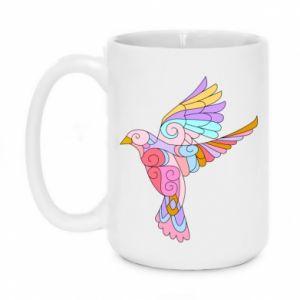Mug 450ml Bird with curls - PrintSalon
