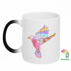 Chameleon mugs Bird with curls - PrintSalon